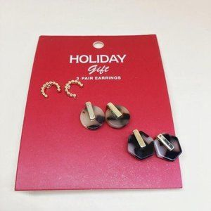 NWT Handmade Christmas Earrings Set of 3